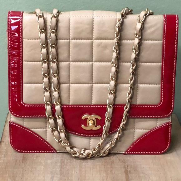 d664aab2d713 CHANEL Handbags - CHANEL Rare Vintage BiColor Calfskin Flap Bag